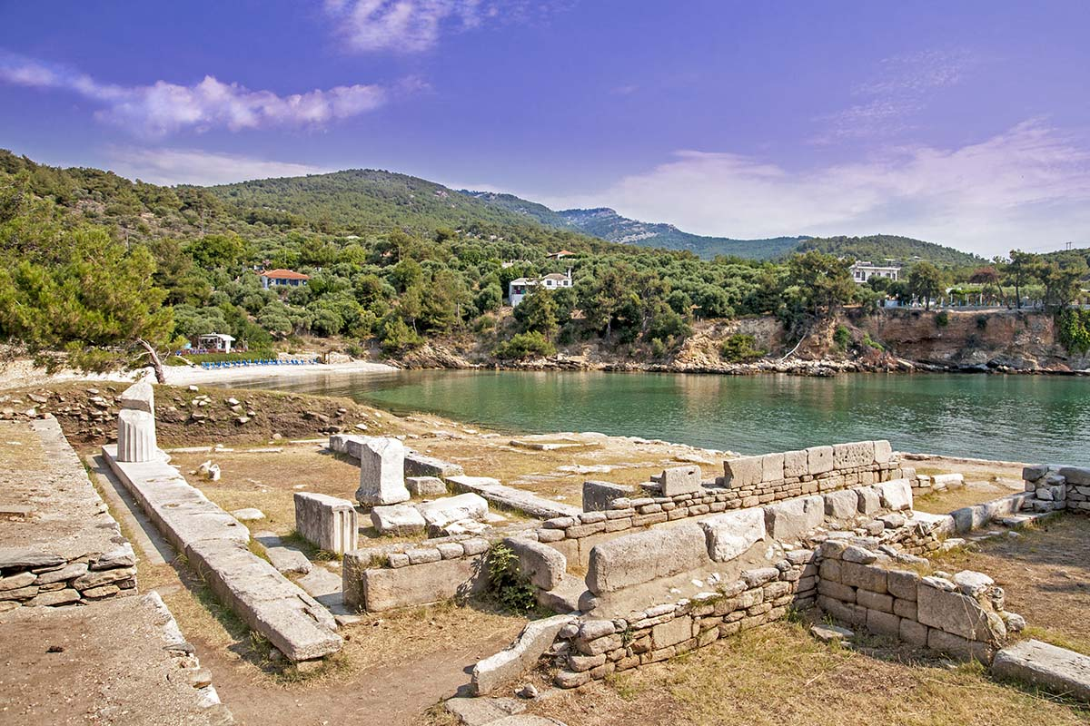 04 Bay and ruins at Alyki, Thasos island, Greece