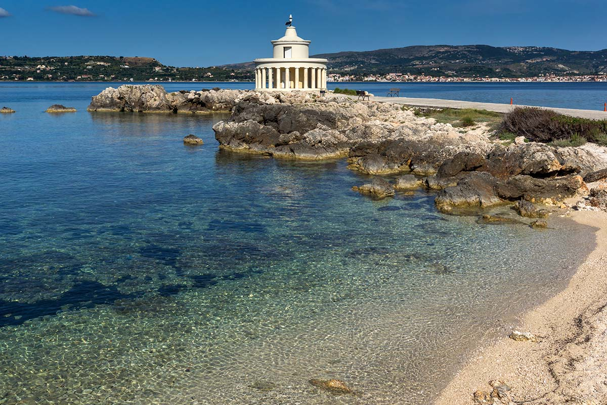 Amazing view of Lighthouse of St. Theodore at Argostoli,Kefalonia, Ionian islands, Greece