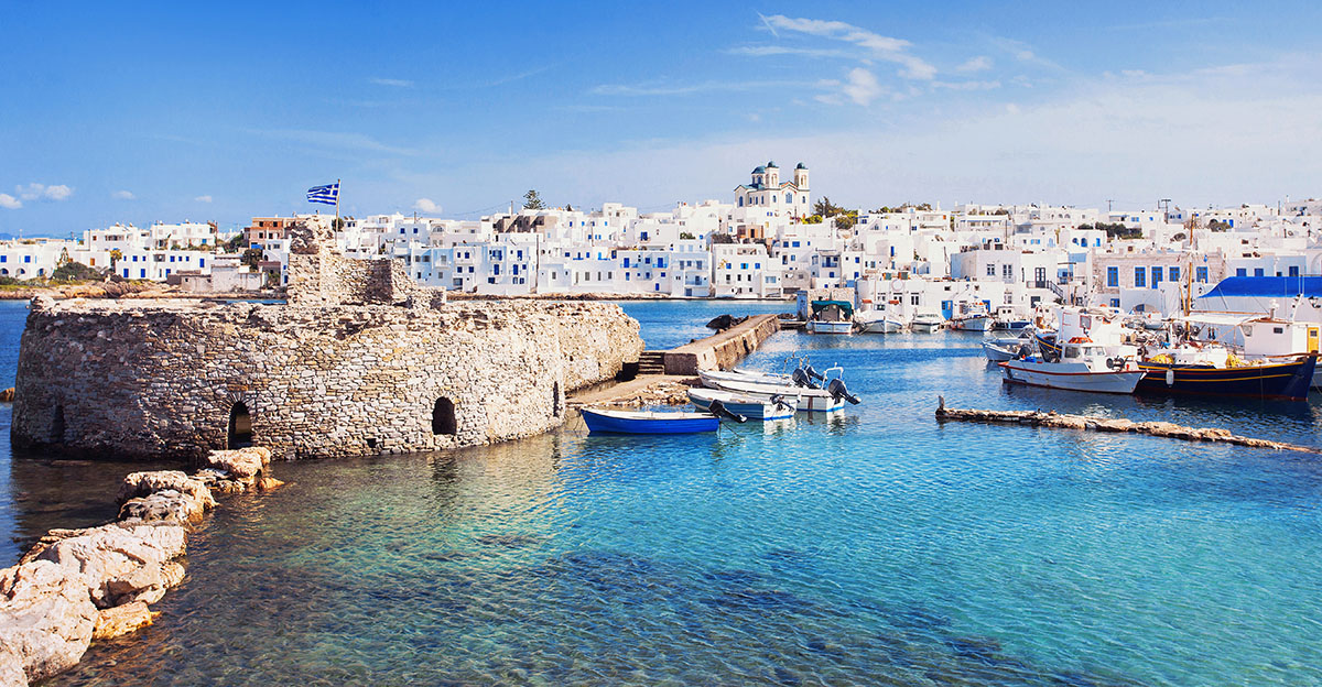 Picturesque Naousa village, Paros island