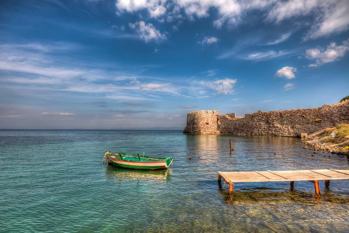 The Old Harbour of Mytilini in Lesvos Island